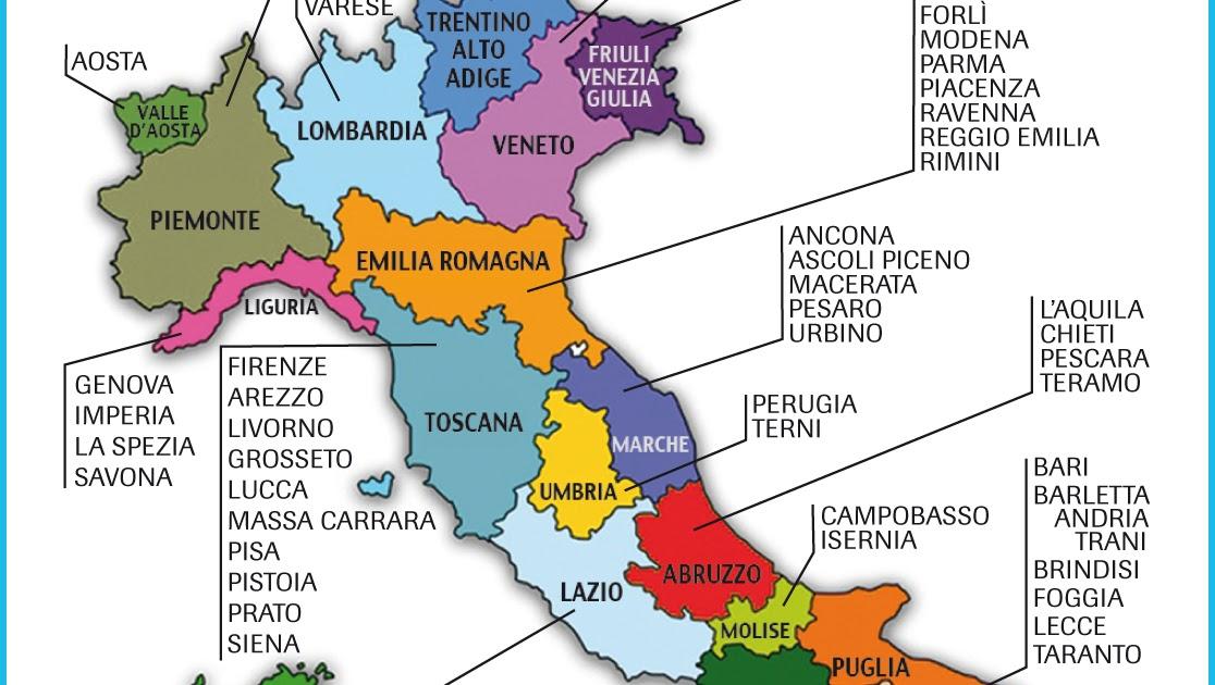 Cartina Italia Con Regioni E Province.Vivacemente Il Giornalino Del Cuore E Della Mente Cartina Dell Italia Regioni E Province