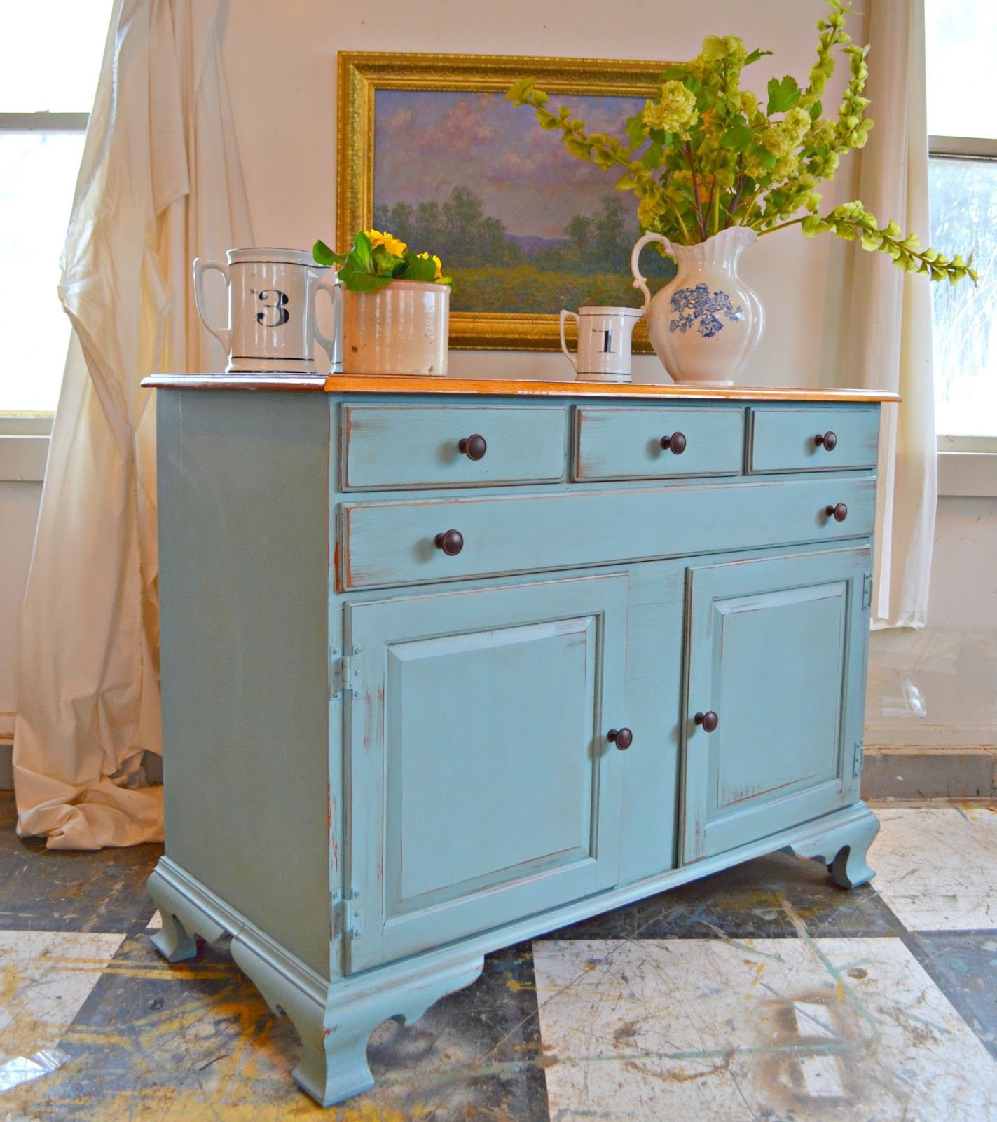 Heir and Space: A Solid Maple Farmhouse Sideboard