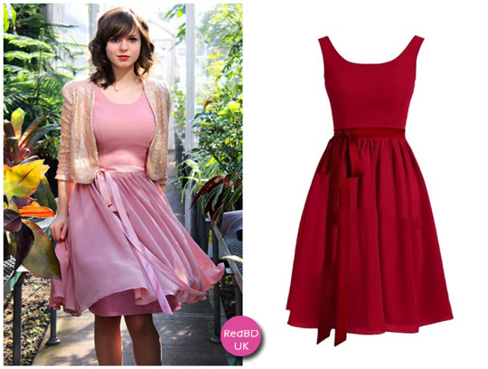 refashion short red bridesmaid dresses in autumn