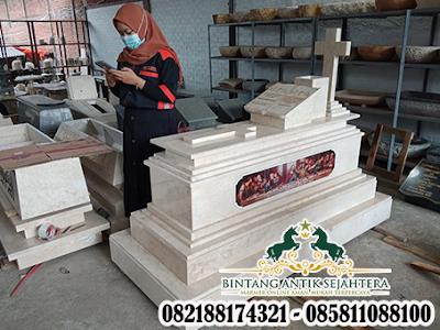 Model Makam Perjamuan , Kuburan Makam Katolik, Makam Perjuamuan Marmer Kristen