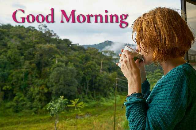 Awesome Good Morrning image with naure hills morning