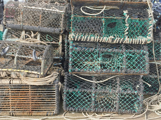 Fishing nets at Scarborough