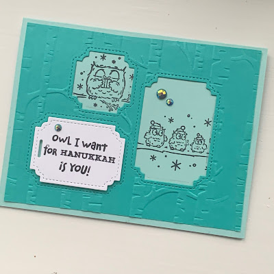 Bermuda Bay Hanukkah Card with Owls and Woods