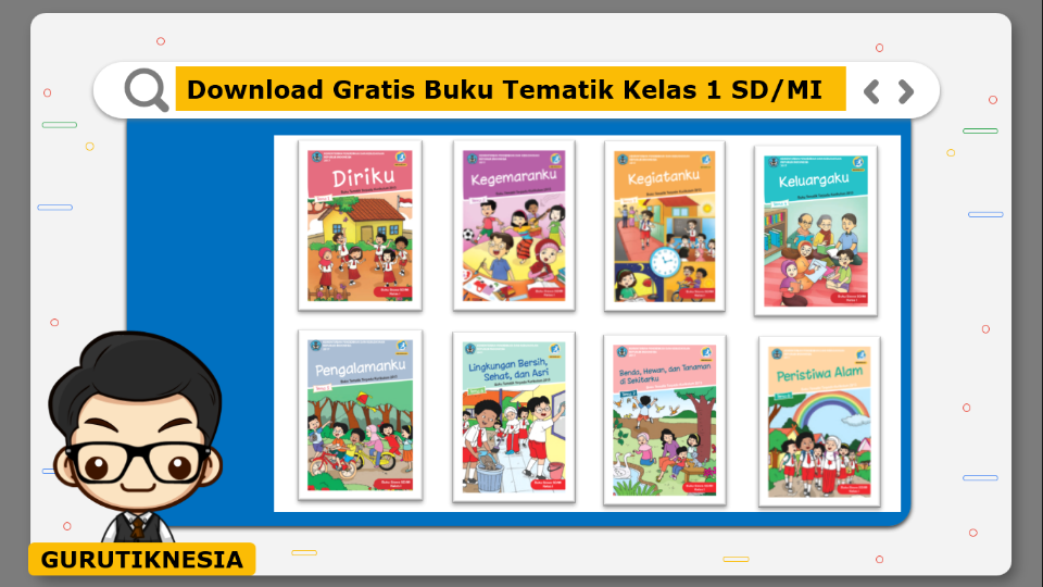 download gratis buku tematik kelas 1 sd/mi
