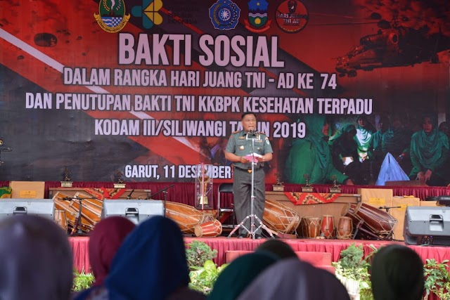Jelang Hari Juang TNI AD, Kodam III/Siliwangi Selalu Ingin Berbuat  Terbaik Bagi Masyarakat