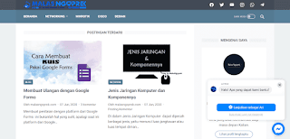 Tampilan messenger di blog