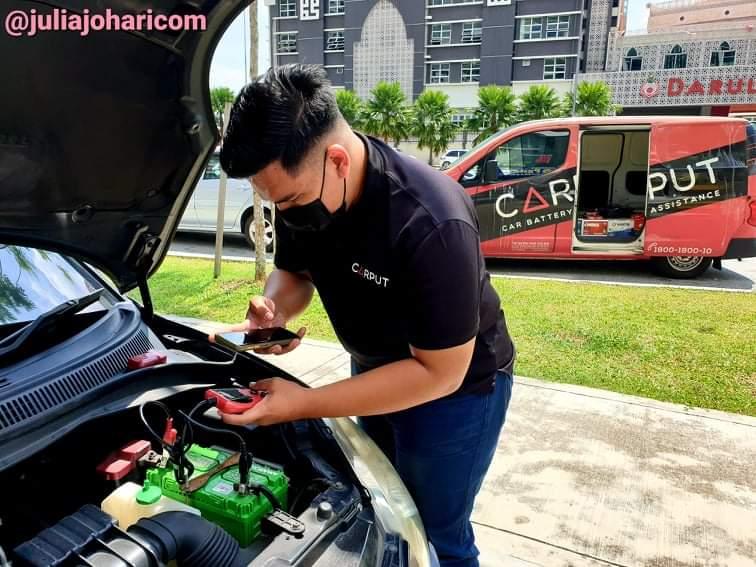 CARPUT bantu masalah bateri kereta kong. Guna Apps CARPUT so senang !