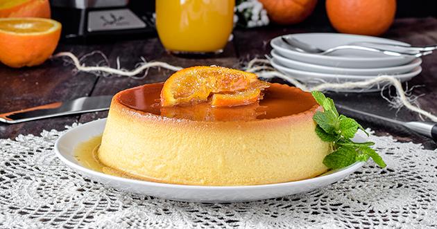 Flan Casero De Huevo Y Naranja Al Horno Sin Lácteos Especialmente Dulce