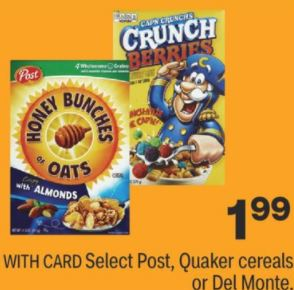 Cheap Cap'n Crunch Cereal CVS Deals