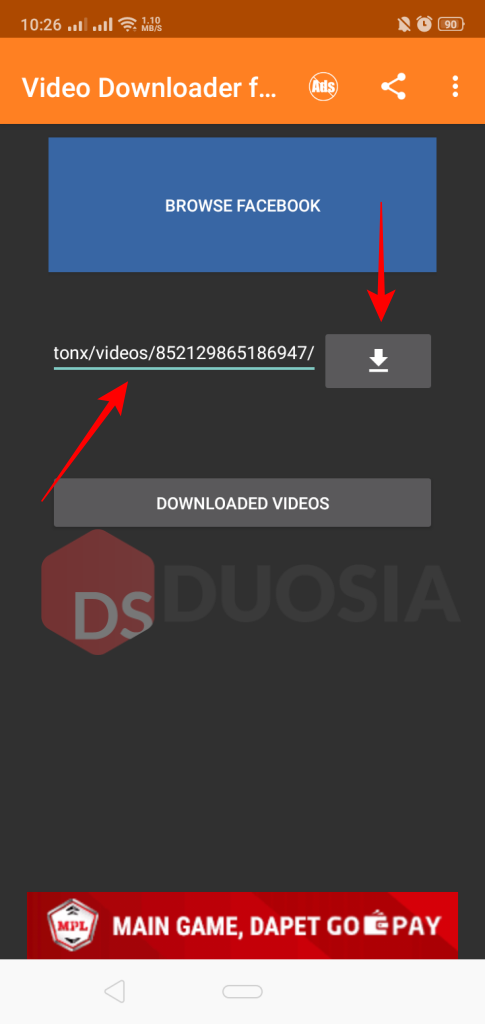 aplikasi download video facebook watch android