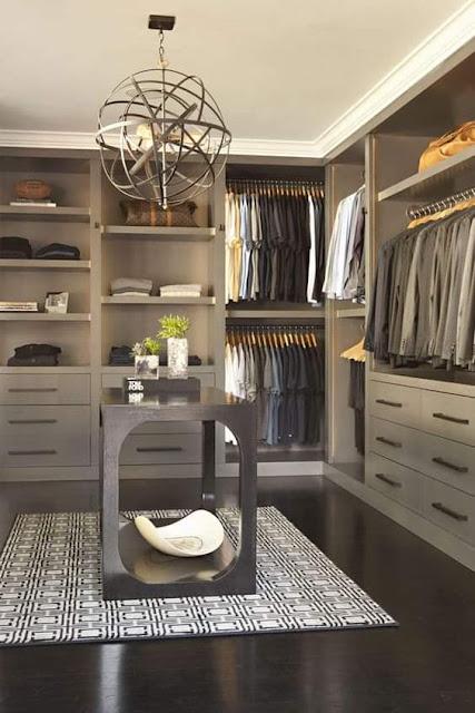 صور تصميمات راقية لغرف تبديل ملابس