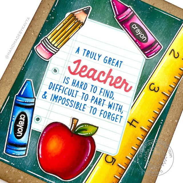 Sunny Studio Stamps: Teacher Appreciation School Time Teacher Card by Kavya