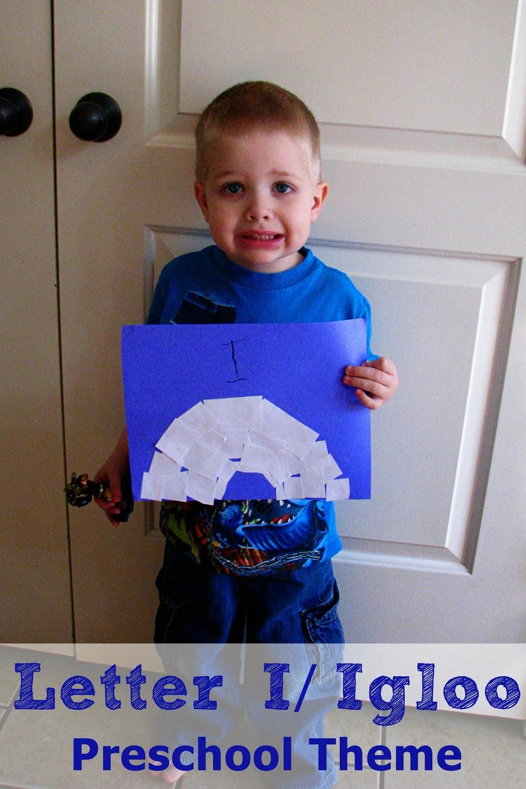 Mommy S Little Helper Letter I Igloo Preschool Theme