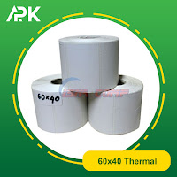 stiker label barcode thermal 60x40mm