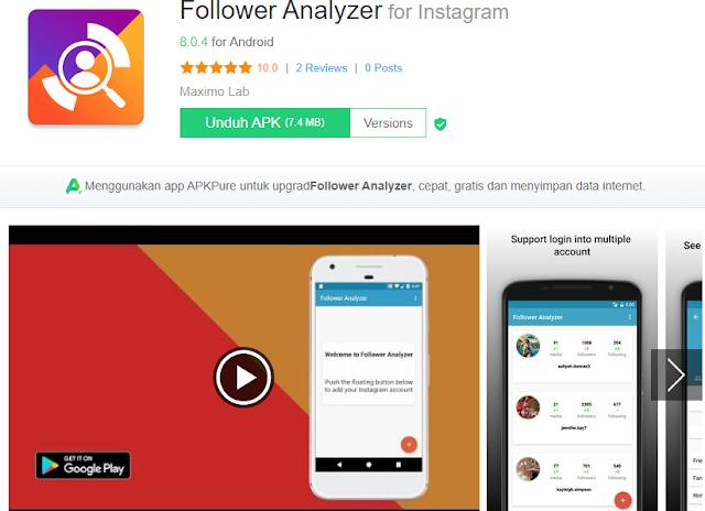 Cara Cek Stalker Instagram Dengan Follower Analyzer For Instagram