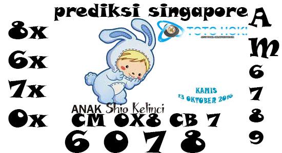 PREDIKSI SGP BOCORAN SINGAPORE HARI KAMIS 13 OKTOBER 2016