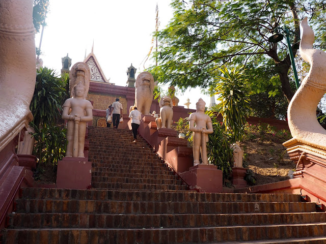 Wat Phnom, on the hilltop in Phnom Penh, Cambodia