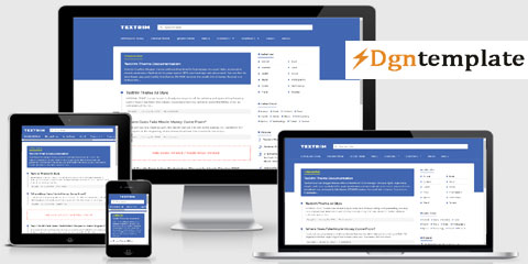 Textrim-Fully Responsive Blogger template dgntemplate