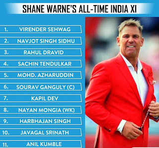 Shane Warne selected the all-time dangerous Indian XI, check who is in and who is out