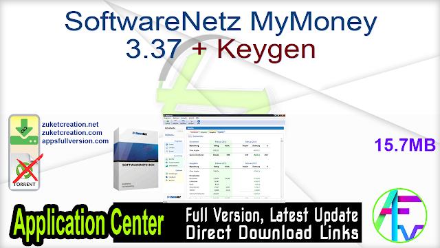 SoftwareNetz MyMoney 3.37 + Keygen