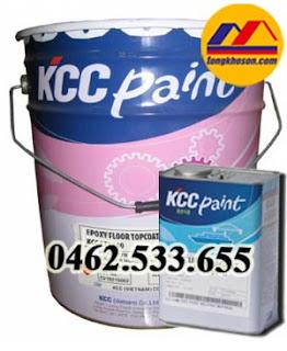 Sơn epoxy tự san phẳng KCC dùng cho sàn bê tông