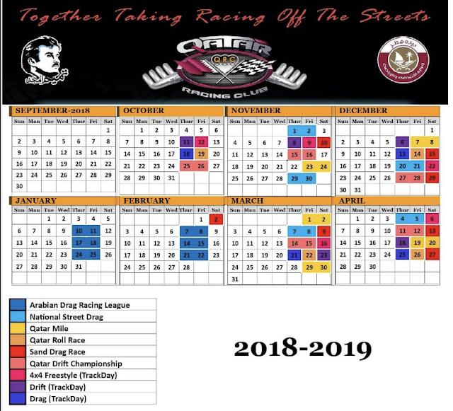 Qatar Racing Club  2018/2019 Events