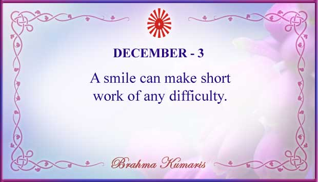 Thought For The Day December 3