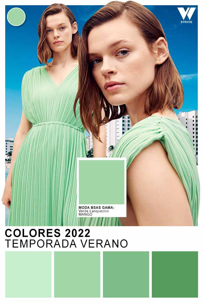 moda colores verdes primavera verano 2022 color