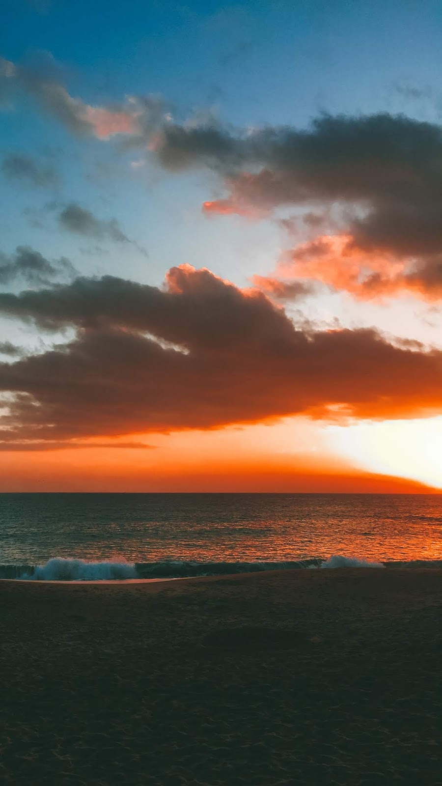 Sunset in the beach wallpaper