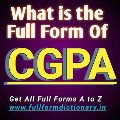 Full Form of CGPA