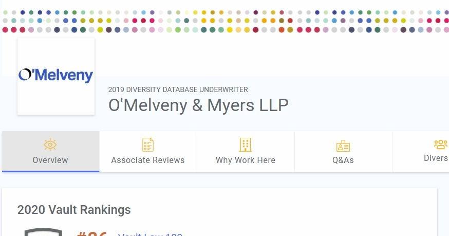 O'Melveny's ethics, by a former O'Melveny attorney: Did O