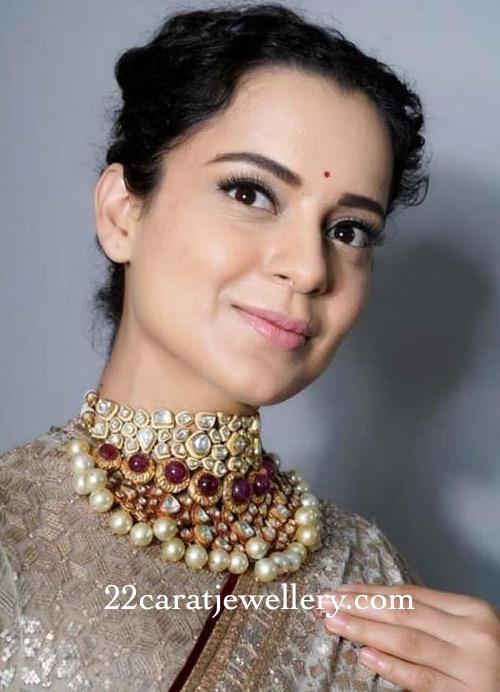 Kangana Ranauth Uncut Diamond Choker