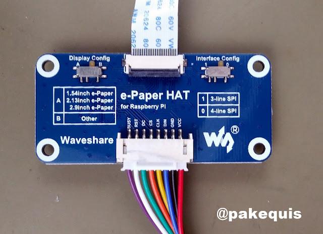 e-Paper HAT for Raspberry Pi