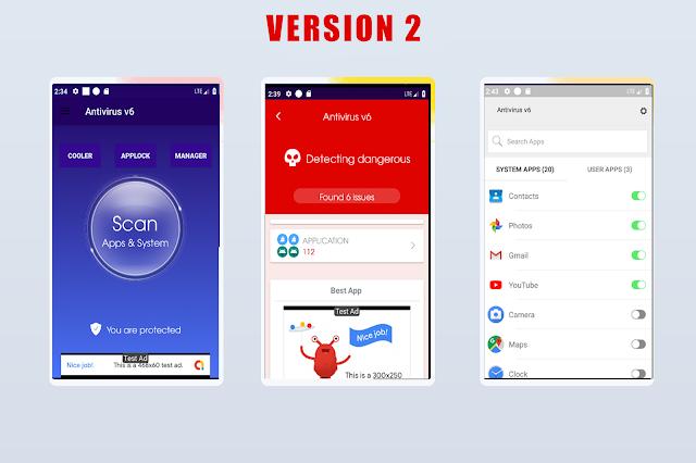 Antivirus + Applock + Booster + Cleaner + AppManager + Cooler ---update v3 --- - 4