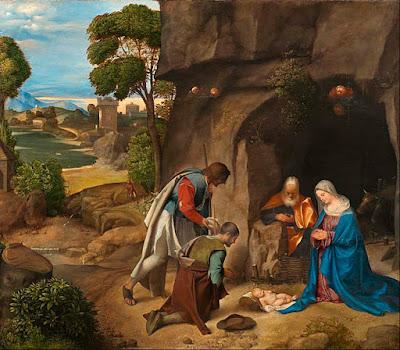 Adoración de los pastores de Giorgione