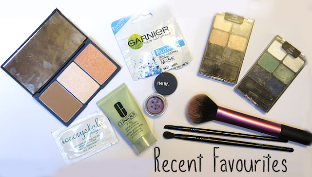 Sleek Face Form Palette, Garnier Pure Self Heating Sauna Mask, Wet & Wild Palettes, Freeze 24.7 Ice Crystals Anti-Aging Prep And Polish Skincare Scrub, MUA Makeup Academy Makeup Brushes, Real Techniques Multi Tasker Brush (from the Travel Essentials set), INIKA Organic Eyeshadow, Clinique 7 Day Scrub