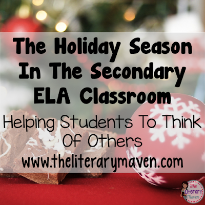 Don't fight the holiday spirit! Embrace it by incorporating holiday themed lessons and activities in your classroom. Middle school and high school English Language Arts teachers discussed their schools approach the holidays and how they recognize the holidays in their own classroom. Teachers also shared how to keep students focused on learning and encourage students to think of others this time of year. Read through the chat for ideas to implement in your own classroom.