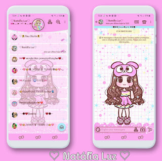 Anime Girl Theme For YOWhatsApp & Aero WhatsApp By Natalia
