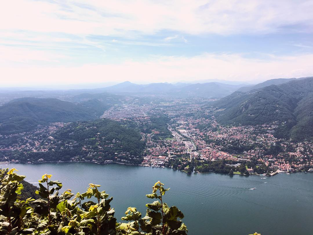 View from Faro Voltiano, Como, Italy