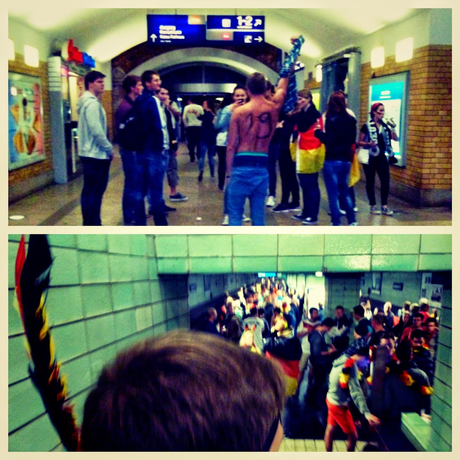 Berlin Underground after world cup