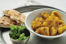 أكل نباتى بطاطس بشكل جديد Bombay potatoes