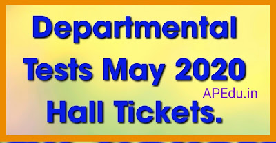 Departmental Tests May 2020 Hall Tickets.