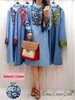 Dress Denim Kombi Batik SOLD OUT