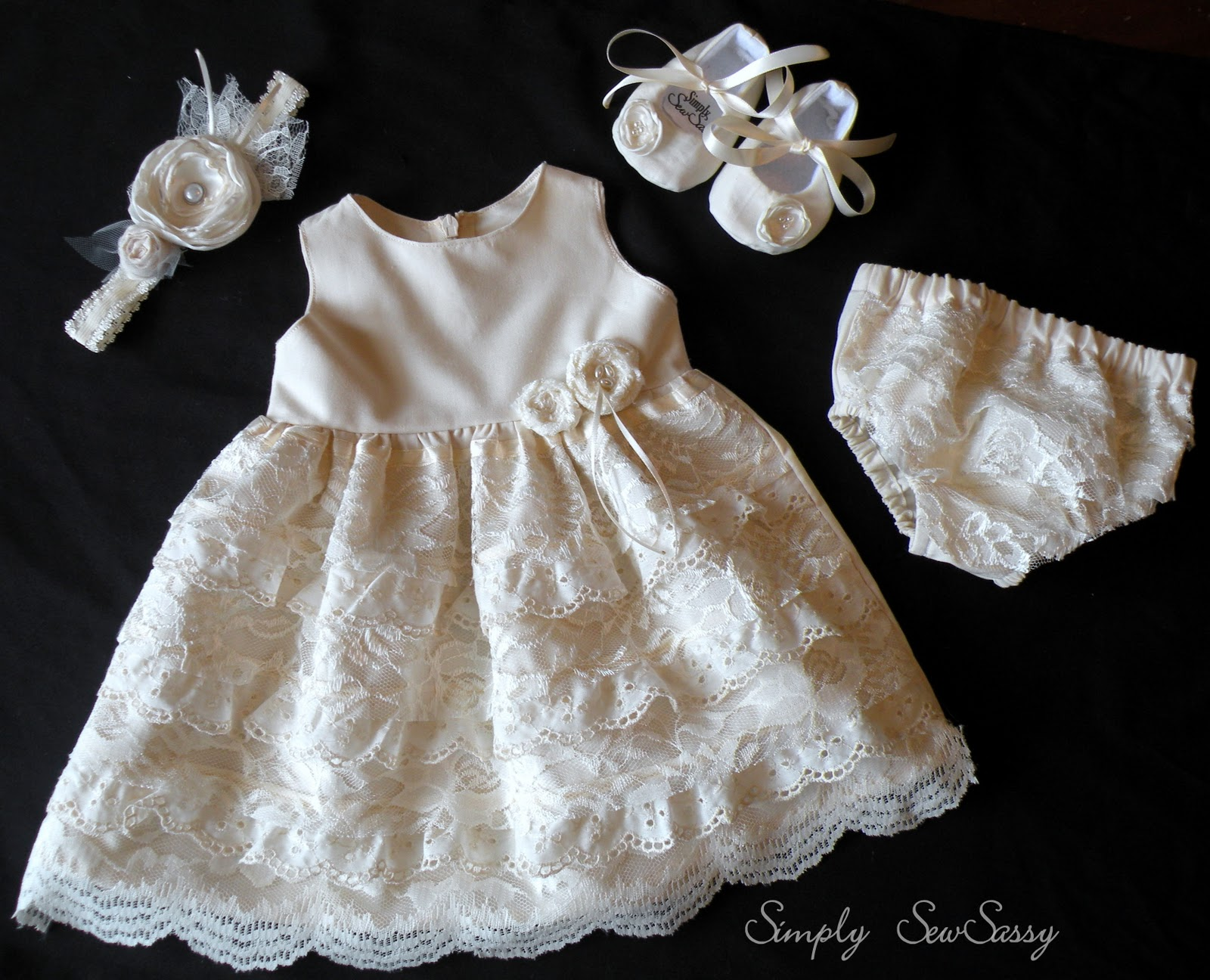 Simply Sewsassy Vintage Pearl Blessing Outfit