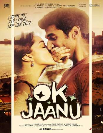 Poster Of OK Jaanu 2017 Hindi 600MB  720p  HEVC Watch Online Free Download world4ufree.org