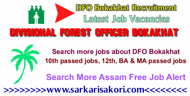 DFO Bokakhat Recruitment logo