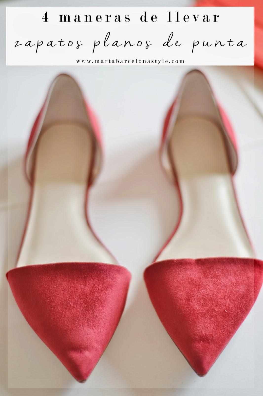 4 maneras de llevar zapatos planos de punta