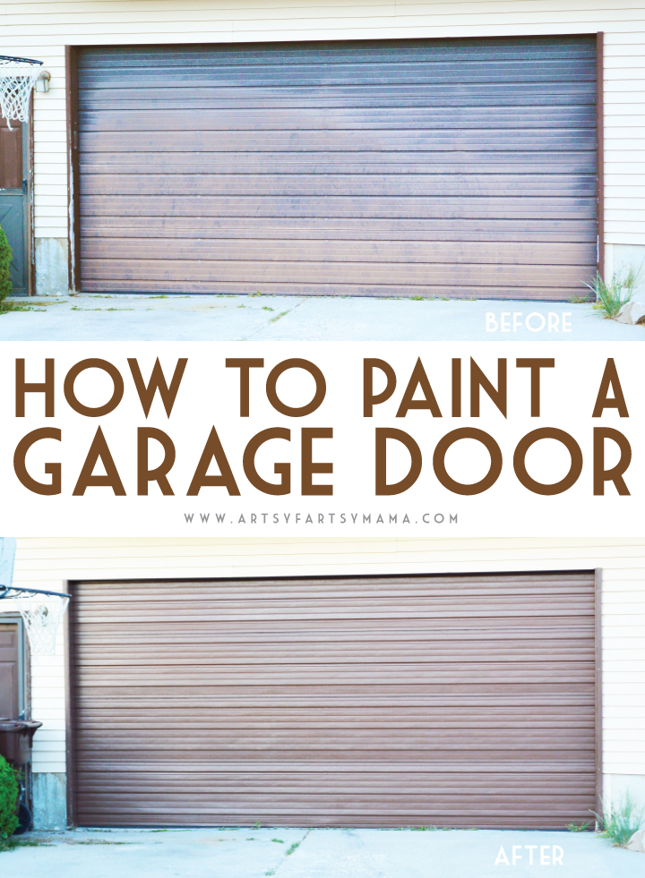 How to Paint a Garage Door from artsyfartsymama.com #ModernMasters