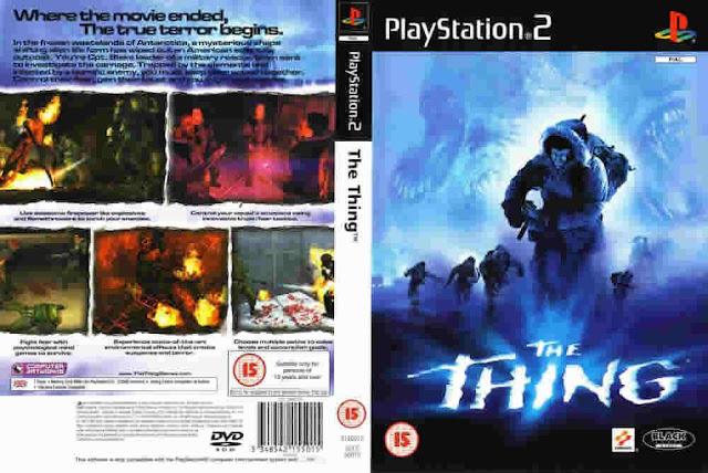 Descargar The Thing NTSC-PAL playstation 2 iso: Es el de un shooter tradicional en tercera persona; el personaje del jugador, Blake, puede correr y disparar, agitarse, agacharse, interactuar con el medio ambiente, interactuar con NPCs y usar elementos, tales como linternas, extintores o bengalas.