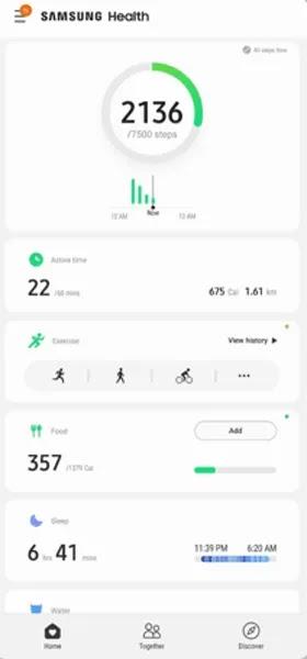 تطبيقات Android Pedometer المجانية Samsung Health